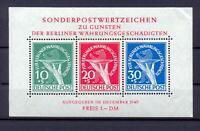 Berlin Block 1 II Währungsgeschädigte PF II postfrisch kl. Eckknitter (dt329)