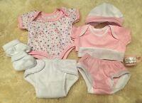 BERENGUER LA NEWBORN DOLLS CLOTHES LAYETTE 12-14 INCH PINK BABY GIRL DOLL REBORN