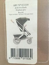 Joolz Geo Earth Upper Seat Fabric-Sun Hood-XL Basket Fabric Elephant Grey £249