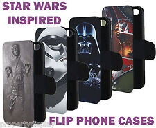 Star Wars Inspired Flip Phone Cover Case Hans Frozen Darth Vader Boba fett