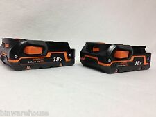 TWO RIDGID R840085 NEW AEG 18V 18 volt LI-ION HYPER BATTERIES Fuel Gauge 27 Wh