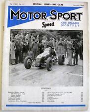 MOTOR SPORT/ Speed Magazine Vol 22 No 11 Nov 1946