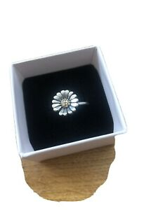 Genuine Trollbeads Silver & Gold Daisy Ring Size 54