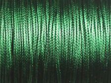 Bobine 90 mètres - Fil Cordon Coton Ciré 1mm Vert Empire