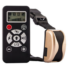 Tera LCD Electric Shock Collar Training Remote for Dog Control Anti Bark Golden