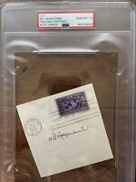 Bill McKechnie Auto Signed HOF PSA 10 Cut Very Rare