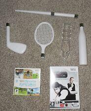 Wii SPORTS+ WORLD SNOOKER 2008+TENNIS/BASEBALL BAT+GOLF CLUB+CUE=NINTENDO Wii