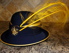 d36a2e8d7a7e3 Navy Blue Gold Anna Maria Hat by Ashro new