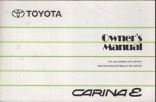 TOYOTA CARINA E 1.6 2.0 PETROL & 2.0 DIESEL ORIG. 1993 OWNERS INSTRUCTION MANUAL