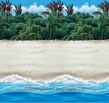 40ft Tropical Sandy Beach Room Roll Scene Setter Hawaiian Party Wall Decoration