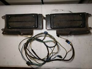 1973-1991 GMC Chevy 1500 2500 3500 REAR SPEAKERS, COVERS, & WIRING HARNESS (OEM)