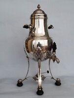 Samowar - Kanne mit Rechaud - SILBER 950 - um 1900   France   Bolicuier & Rod