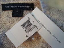 NWT FRENCH CONNECTION Trendy Faux Fur Trim Skirt Fashion Long Vest Sz M