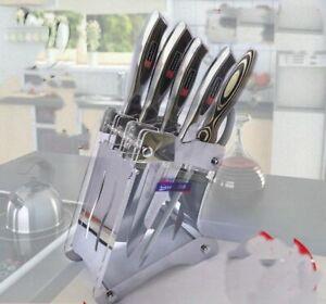 Stainless Steel Knife Stand Holder Blocks Kitchen Tool Organizer Accessories New