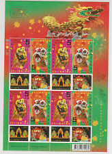 2008 Thailand Chinese New Year Postage Stamps - Lion Dance Sheet