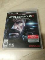 Metal Gear Solid V Ground Zeroes PlayStation 3 PS3