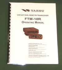 Yaesu FTM-10R Instruction Manual -  Premium Card Stock Covers & 28 LB Paper!