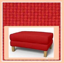 IKEA Karlstad Korndal Red Ottoman Cover Fire-Engine Tweed NEW(AddMates)Footstool