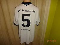 "FC Schalke 04 Adidas Auswärts Trikot 2013/14 ""GAZPROM"" + Nr.5 Santana Gr.XL TOP"