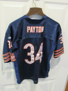 Chicago Bears Walter Payton NFL Football Jersey Size Large sewn Reebok