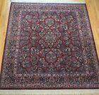 KARASTAN 700-785 RED SAROUKK WOOL AMERICAN CARPET AREA RUG  CLEANED 8.8 x 10.6