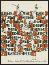 Baltimore Orioles 1970 World Series Program Baseball Postcard Post Card