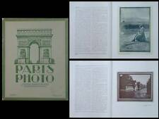 PARIS PHOTO 1920 - REVUE PHOTOGRAPHIE, PICTORIALISME, EDOUARD PAYOT,DENISE SEBIN