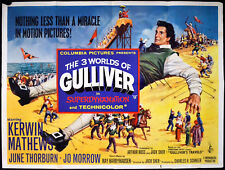 3 WORLDS OF GULLIVER 1960 Kerwin Mathews Jo Morrow June Thorburn UK QUAD POSTER