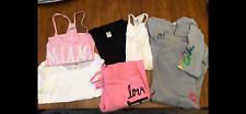 Lot 7 Victoria Secret Pink Womens Shirt Top Pant Sweatpants Jacket Xs S Preowned