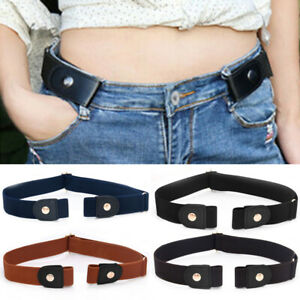 Buckle Free Women Stretch Belt Plus Size No Buckle/Show Invisible Belt For Jeans