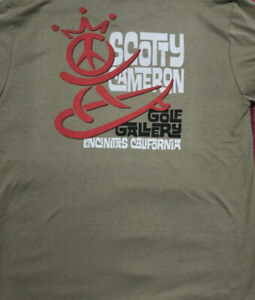 Scotty Cameron Gallery Exclusive Peace Surfer T Shirt - Large - Olive Green- New