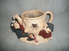 Boyds Bears Cicely & Juneau Wee Folkstones Snow People 1999 Candle Warmer #27850