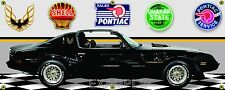 1979 PONTIAC FIREBIRD TRANS AM BLACK GARAGE SCENE BANNER SIGN ART MURAL 2 X 5