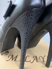 Faux Leather Killer High Heels Black Size 2 New With Box