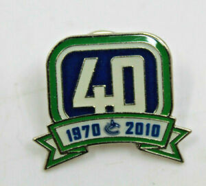 Vancouver Canucks Hockey 40th Anniversary 1970-2000 Official Collectible Pin NHL