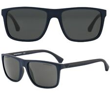 Emporio Armani Herren Sonnenbrille EA4033 5230/87 56mm blau braun matt EA4 3
