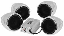 BOSS AUDIO 1000W 4-SPEAKER BLUETOOTH SOUND SYSTEM CHROME HONDA MOTORCYCLES ALL