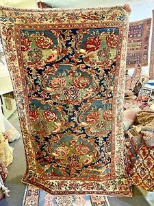 Auth: Antique Kurdish Bijar  HEAVY  All Wool Collectors Beauty 5x6 No Reserve