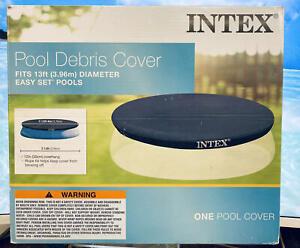 """Intex N/AA 13' x 12"""" Easy Set Above Ground Rope Tie PVC Vinyl Pool Cover~ Blue"""