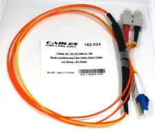 1 Meter SC- 50/125 MM/LC- SM Mode Conditioning Fiber Optic Patch Cable (LC Equip