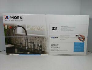 Moen Edison 87042SRS Spot Resist Stainless Steel High-Arc Kitchen Faucet