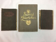 Lot of 3 Old Hymnals Books Antique Vintage Church Christian