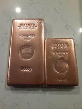 5 Kilo 5000g Liepziger Copper Bar & 100 oz GeigerSchloss Copper Bar .999 Bullion
