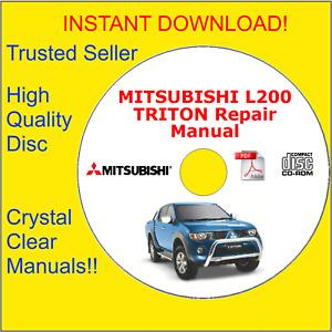 Mitsubishi L200 Triton Strada Service Repair Body Manual OFFICIAL! PDF DOWNLOAD