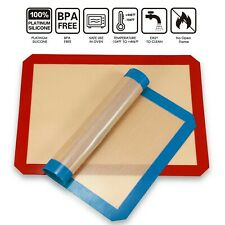 2 Pack Baking Mat Silicone Non Stick Bakeware Oven Mats Pad Cookie Cake Dessert