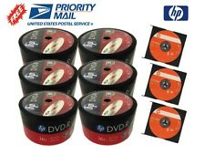 300-PACK 16X HP Logo Top Blank DVD-R DVDR Disc 4.7GB + 3 FREE HP-CD-RW Discs