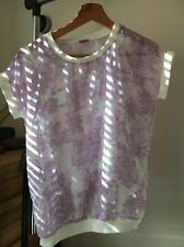 F&F Lilac Floral Polyester Under Camisole Age 12-13 Top <T10638