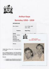 ARTHUR KAYE BARNSLEY 1950-1959 RARE ORIGINAL HAND SIGNED NEWSPAPER CUTTING