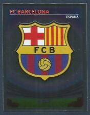 PANINI UEFA CHAMPIONS LEAGUE 2007-08- #043-BARCELONA TEAM BADGE-SILVER FOIL