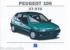 Peugeot 106 XT XTD Prospekt 1994 10/94 F brochure Autoprospekt prospectus Auto